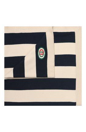 Детского хлопковое одеяло GUCCI синего цвета, арт. 603822/3K111 | Фото 1