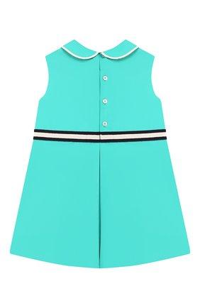 Женский хлопковое платье GUCCI бирюзового цвета, арт. 604648/ZB365 | Фото 2