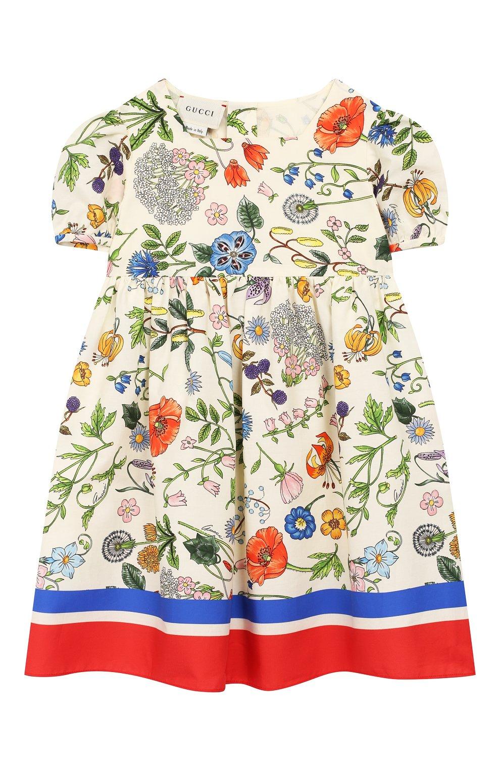 Женский хлопковое платье GUCCI разноцветного цвета, арт. 608215/ZADXS   Фото 1