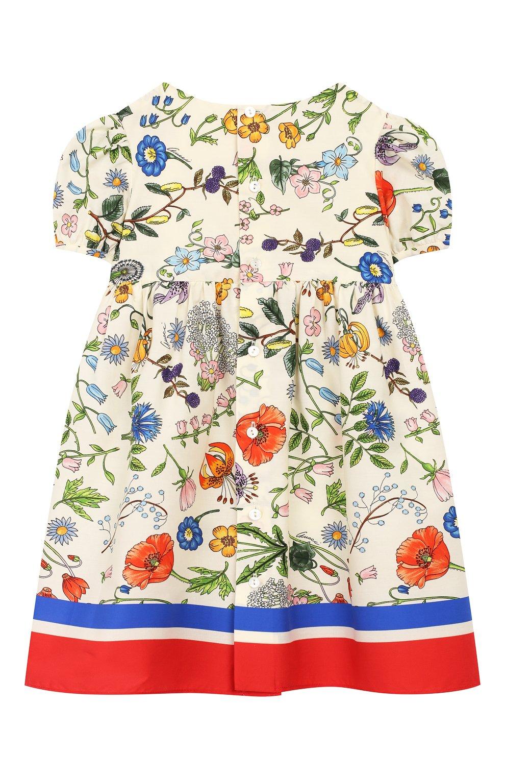 Женский хлопковое платье GUCCI разноцветного цвета, арт. 608215/ZADXS   Фото 2