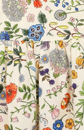 Женский хлопковое платье GUCCI разноцветного цвета, арт. 608215/ZADXS   Фото 3