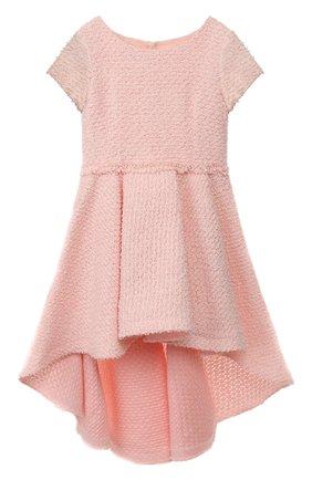Детское хлопковое платье DESIGNERS CAT розового цвета, арт. 0100KK0KI00003/4A-8A | Фото 1