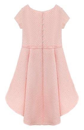 Детское хлопковое платье DESIGNERS CAT розового цвета, арт. 0100KK0KI00003/4A-8A | Фото 2