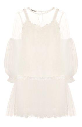 Детское комплект из платья и блузки DESIGNERS CAT бежевого цвета, арт. 100000K01000220/4A-8A | Фото 1