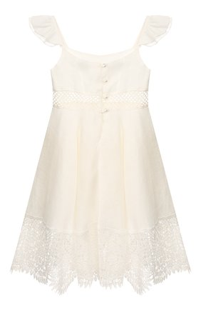 Детское льняное платье DESIGNERS CAT белого цвета, арт. 100000K01000317/2A | Фото 2