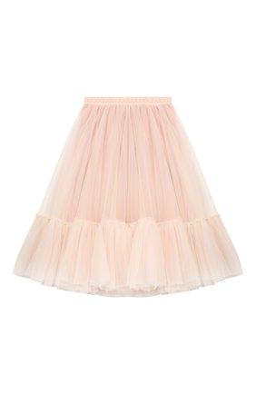 Детская многослойная юбка DESIGNERS CAT розового цвета, арт. 100000K01000324/10A-12A | Фото 1