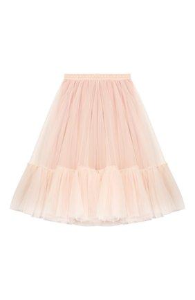 Детская многослойная юбка DESIGNERS CAT розового цвета, арт. 100000K01000324/4A-8A | Фото 1