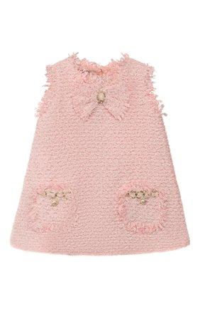 Детское платье DESIGNERS CAT розового цвета, арт. 100000K01000392/2A | Фото 1