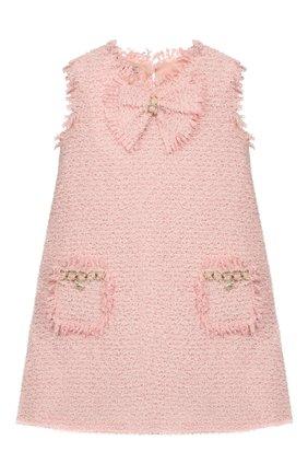 Детское платье DESIGNERS CAT розового цвета, арт. 100000K01000392/4A-8A | Фото 1