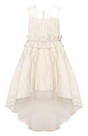 Детское платье DESIGNERS CAT бежевого цвета, арт. 100000K01000396/4A-8A | Фото 1