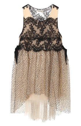 Детское платье DESIGNERS CAT черного цвета, арт. 100000K01000398/4A-8A | Фото 1