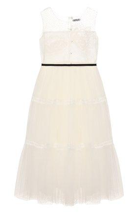 Детское платье DESIGNERS CAT белого цвета, арт. 100000K01000400/4A-8A | Фото 2