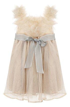 Детское платье DESIGNERS CAT бежевого цвета, арт. 100000K01000422/2A | Фото 2