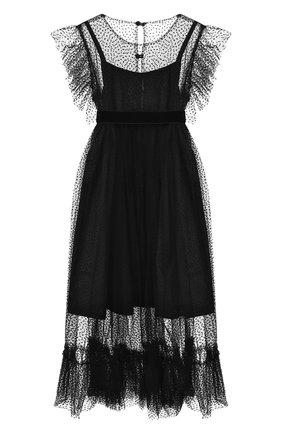 Детское платье DESIGNERS CAT черного цвета, арт. 100000K01000435/10A-12A | Фото 1