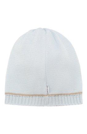 Детского хлопковая шапка IL TRENINO голубого цвета, арт. 20 6658/E0 | Фото 2