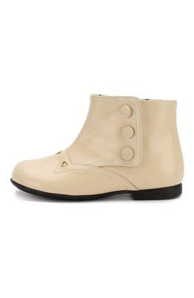 Детские кожаные ботинки GUCCI белого цвета, арт. 580114/D73L0 | Фото 2