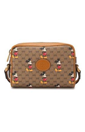 Женская сумка disney x gucci GUCCI коричневого цвета, арт. 602536/HWUBM | Фото 1