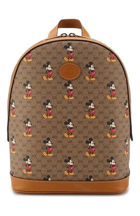 Женский рюкзак disney x gucci GUCCI коричневого цвета, арт. 552884/HWUDM | Фото 1