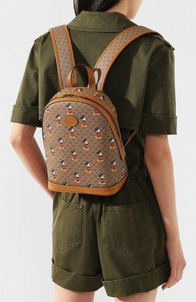 Женский рюкзак disney x gucci GUCCI коричневого цвета, арт. 552884/HWUDM | Фото 2