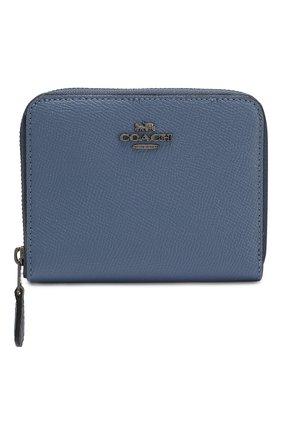 Женские кожаное портмоне COACH синего цвета, арт. 29677 | Фото 1