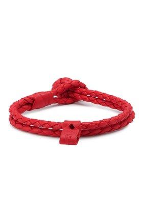 Женская кожаный браслет BOTTEGA VENETA красного цвета, арт. 612982/V00BG | Фото 2