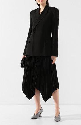 Женская туфли BOTTEGA VENETA серого цвета, арт. 608839/VBSR0 | Фото 2