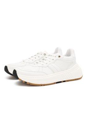 Женские кожаные кроссовки speedster BOTTEGA VENETA белого цвета, арт. 565655/VT040 | Фото 1