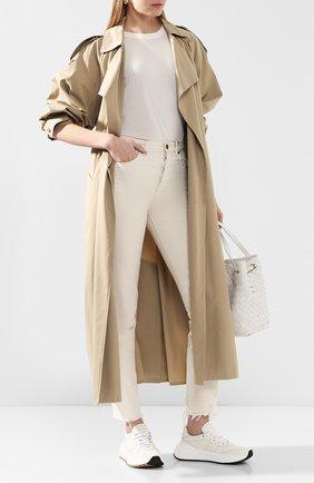 Женские кожаные кроссовки speedster BOTTEGA VENETA белого цвета, арт. 565655/VT040 | Фото 2