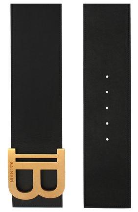 Женский кожаный пояс BALMAIN черного цвета, арт. TN1A004/LVLA | Фото 2