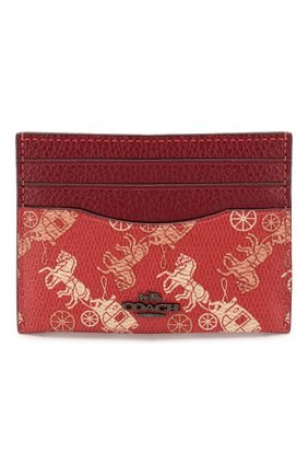Женский футляр для кредитных карт COACH красного цвета, арт. 86107 | Фото 1