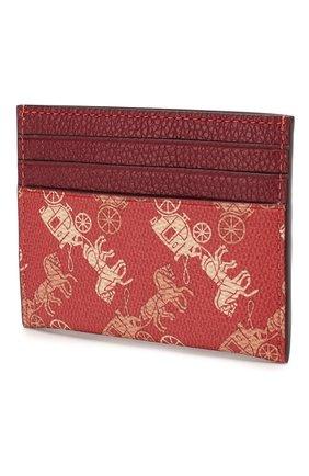 Женский футляр для кредитных карт COACH красного цвета, арт. 86107 | Фото 2