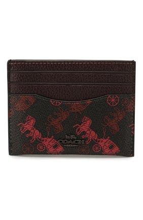Женский футляр для кредитных карт COACH бордового цвета, арт. 86107 | Фото 1