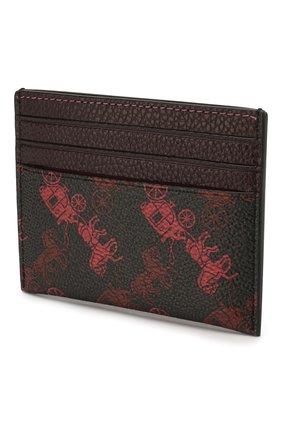 Женский футляр для кредитных карт COACH бордового цвета, арт. 86107 | Фото 2