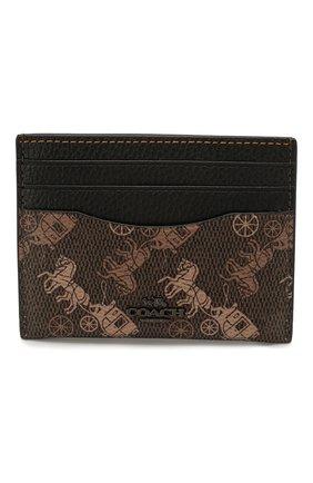 Женский футляр для кредитных карт COACH коричневого цвета, арт. 86107 | Фото 1