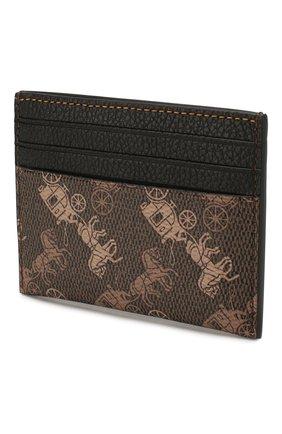 Женский футляр для кредитных карт COACH коричневого цвета, арт. 86107 | Фото 2