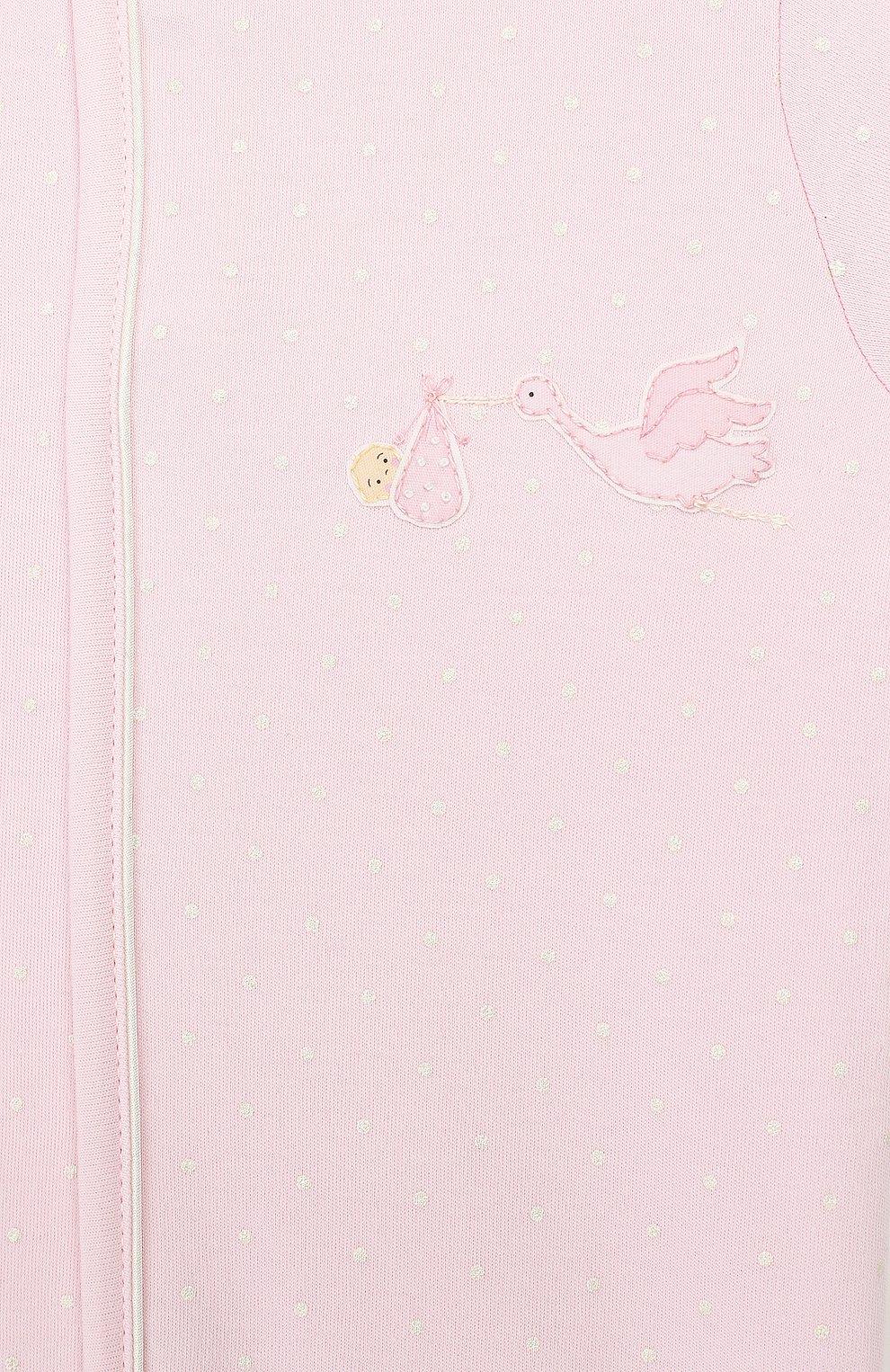Детский хлопковый комбинезон MAGNOLIA BABY розового цвета, арт. E103-22-PK   Фото 3