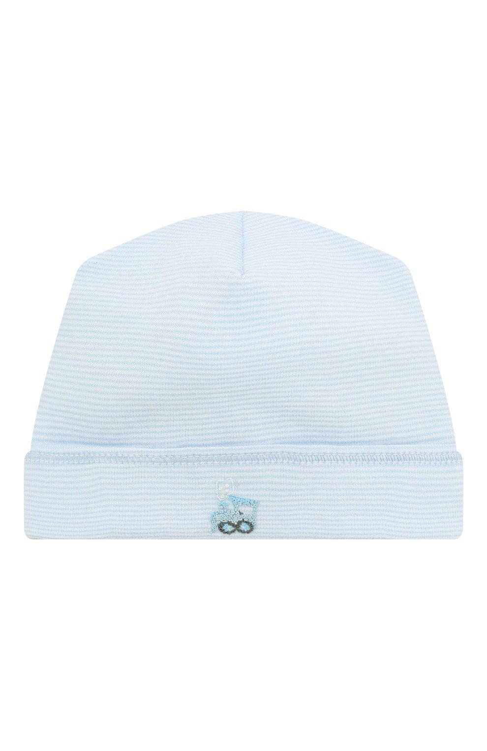 Детского шапка tiny choo choo MAGNOLIA BABY голубого цвета, арт. 569-50-LB | Фото 1 (Материал: Текстиль, Хлопок; Кросс-КТ НВ: Шапочки-аксессуары)