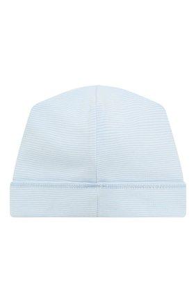 Детского шапка tiny choo choo MAGNOLIA BABY голубого цвета, арт. 569-50-LB | Фото 2 (Материал: Текстиль, Хлопок; Кросс-КТ НВ: Шапочки-аксессуары)