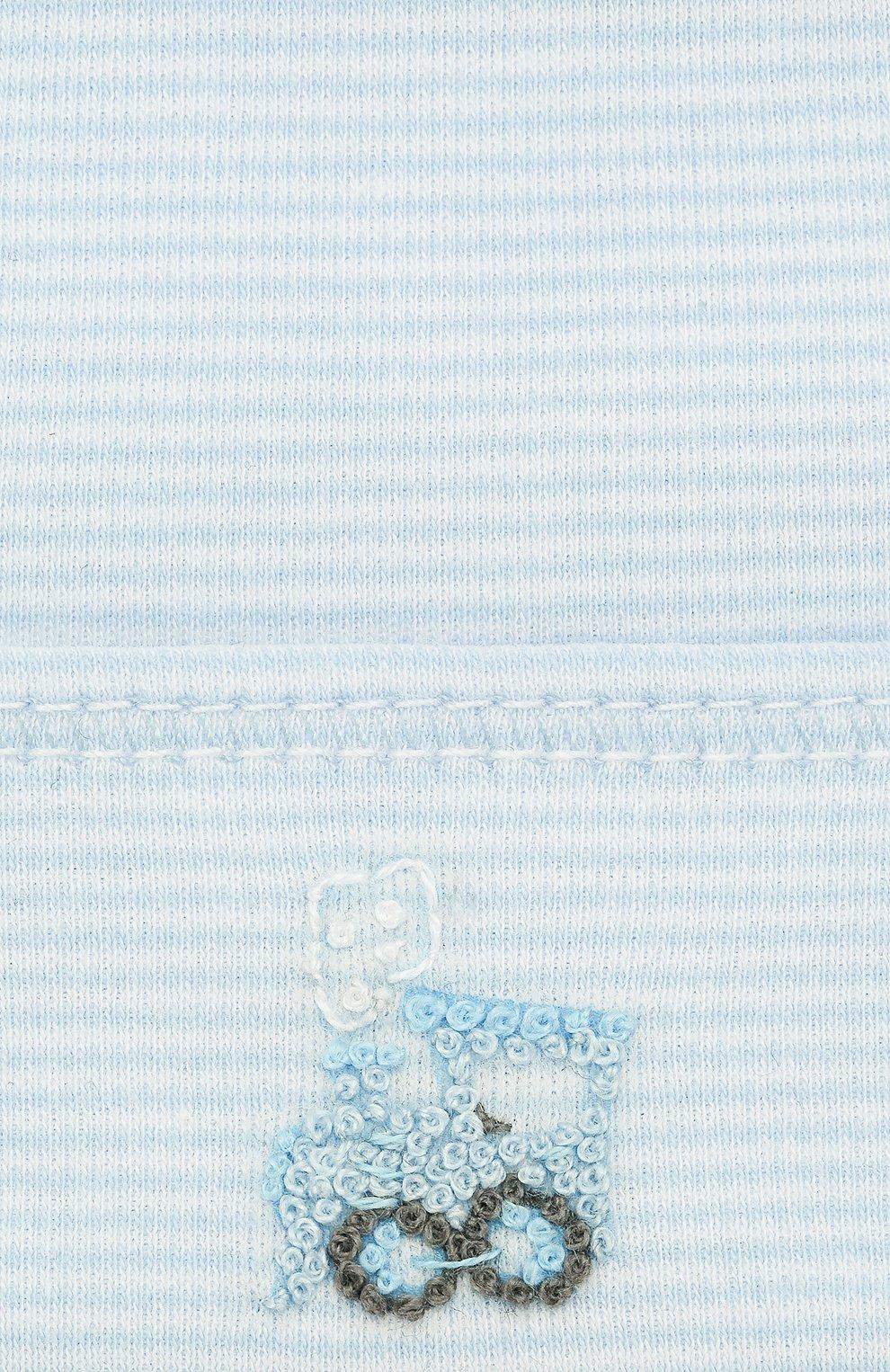 Детского шапка tiny choo choo MAGNOLIA BABY голубого цвета, арт. 569-50-LB | Фото 3 (Материал: Текстиль, Хлопок; Кросс-КТ НВ: Шапочки-аксессуары)