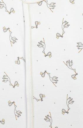 Детский хлопковый комбинезон MAGNOLIA BABY белого цвета, арт. E103-22P-WH | Фото 3 (Рукава: Длинные; Материал внешний: Хлопок)