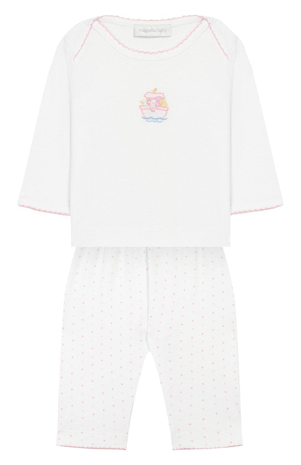 Детского комплект из лонгслива и брюк noah's friends MAGNOLIA BABY розового цвета, арт. E109-27-PK   Фото 1