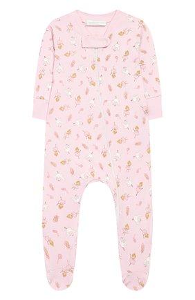 Детский хлопковый комбинезон MAGNOLIA BABY розового цвета, арт. 468-22ZP-PK | Фото 1