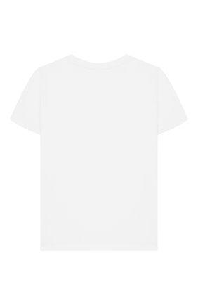 Детская хлопковая футболка STELLA MCCARTNEY белого цвета, арт. 588492/S0JB5 | Фото 2