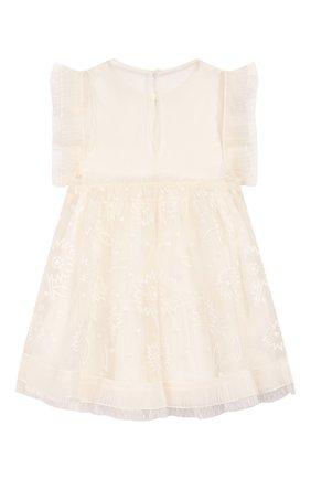 Детское шелковое платье STELLA MCCARTNEY белого цвета, арт. 589320/S0KD6   Фото 2