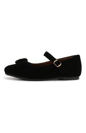 Детские туфли с застежкой AGE OF INNOCENCE черного цвета, арт. 000013/ELLEN VELVET/27-33 | Фото 2