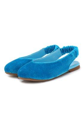 Детские балетки AGE OF INNOCENCE голубого цвета, арт. 000132/MATILDA (VELVET)/32-38 | Фото 1