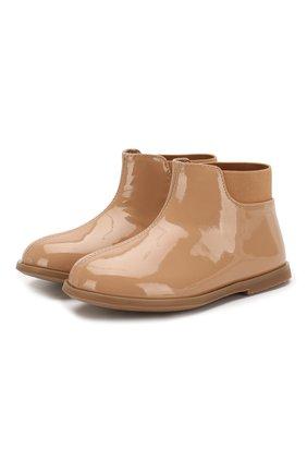 Детские кожаные ботинки AGE OF INNOCENCE бежевого цвета, арт. 000166/GAIA/23-29 | Фото 1