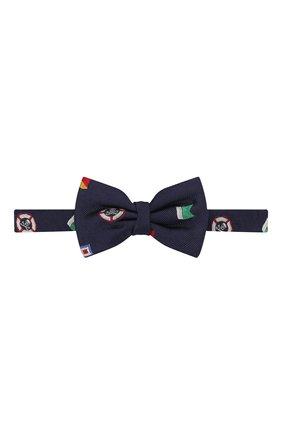 Детский шелковый галстук-бабочка POLO RALPH LAUREN синего цвета, арт. 352794102 | Фото 1