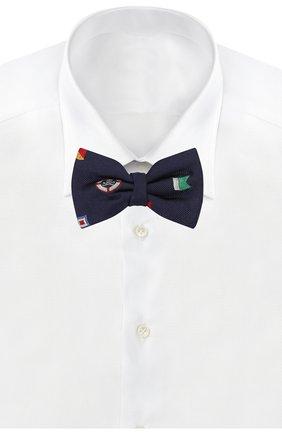 Детский шелковый галстук-бабочка POLO RALPH LAUREN синего цвета, арт. 352794102 | Фото 2