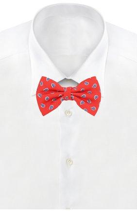 Детский шелковый галстук-бабочка POLO RALPH LAUREN красного цвета, арт. 352794096 | Фото 2